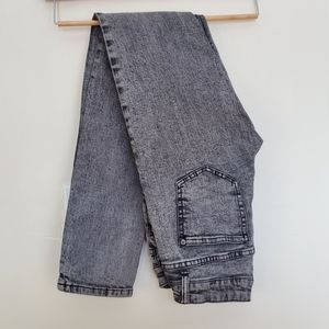 Flying monkey dark acid wash skinnies